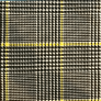 Houndtooth Black-Yellow Fabric