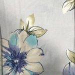 Rayon Spandex Jersey Fabric Floral Print - Ivory Background 3