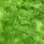 green faux fur fabric