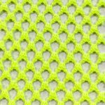Fishnet Fabric Medium Hole Neon Yellow