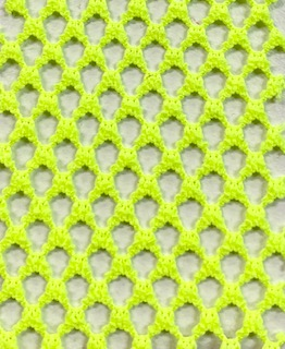 Fishnet Fabric Medium Hole Neon Yellow