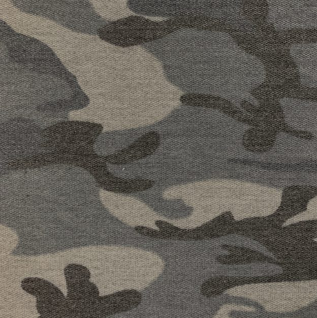 French Terry Fleece Camo Print 2
