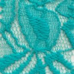 Lace Knit Fabric Aqua