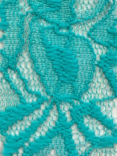Lace Knit Fabric Aqua