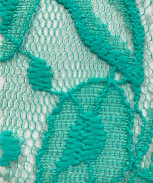 Lace Knit Fabric Seafoam