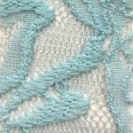 Lace Knit Fabric Skyblue