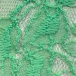 Lace Knit Fabric Green Light