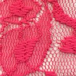 Lace Knit Fabric Hot Pink