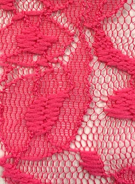 Lace Knit Fabric Hot Pink