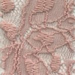 Lace Knit Fabric Pink Dusty