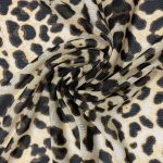 Power Mesh Leopard wholesale fabric teal