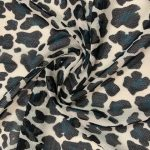 Power mesh fabric cheetah teal