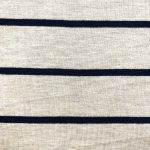 Stripe Rayon Spandex Jersey Oatmeal Wholesale Fabric