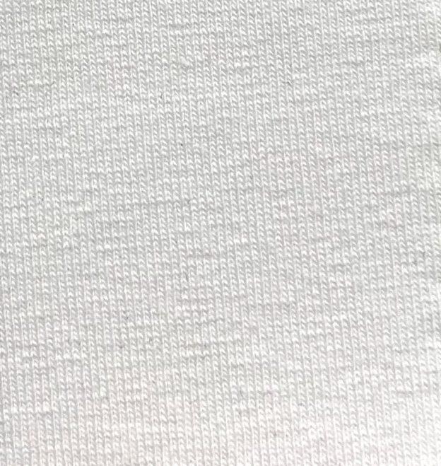 Turkish Cotton Jersey Spandex white