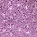 Eyelet Knit Fabric Lavender
