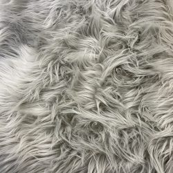 white faux fur fabric